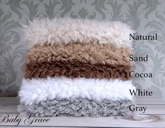 Fur stuffer. Available in black, white, gray, cocoa and sand!