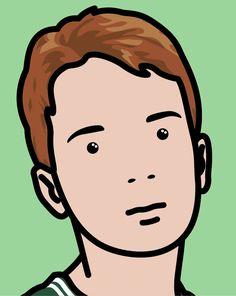 Julian Opie Steven schoolboy 1 Julian Opie