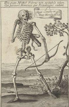 Skelet met pijl en boog, Hendrick Hondius, after Teodoro Filippo di Liagno, 1626 - Rijksmuseum Memento Mori, Macabre Art, Danse Macabre, Death Art, Dance Of Death, Monster Drawing, Medieval Art, Vanitas, Grim Reaper