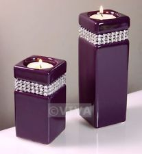 Purple Candle Holders Candles Wedding Tealight