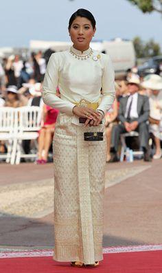 Princess wearing Thai costume