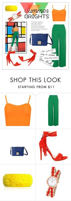 """""""Summer bright II"""" by dudubags on Polyvore featuring moda, WearAll, Isa Arfen, GUESS, Mariah Rovery, Christian Van Sant e summerbrights"""