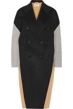 Acne Studios | Cales color-block wool and cashmere-blend coat | NET-A-PORTER.COM