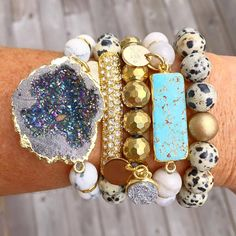The Don't Want This Night To End Beaded Bracelet - Turquoise Bar - LuEls