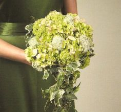wedding flowers bridal bouquet   green cascading bouquet this awesome bouquet is filled with jade