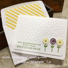Flower Patch, Clean & Simple Card, Stampin' Up! Cards, Envelope Liner