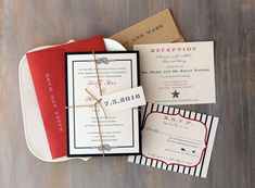 Love these!!! Fourth of July Wedding Invitations Summer Wedding by BeaconLane, $100.00