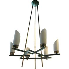 Italian 6-Arm Chandelier | From a unique collection of antique and modern chandeliers and pendants  at http://www.1stdibs.com/furniture/lighting/chandeliers-pendant-lights/