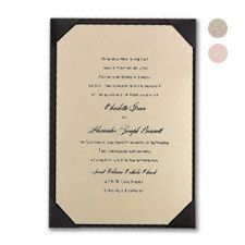 Grand Affair - Invitation and Box - Champagne Shimmer - Option 2