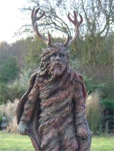The Greenman, Cernunnos, Herne the Hunter ...Spirits of the Forest - Pagan Sculptures...