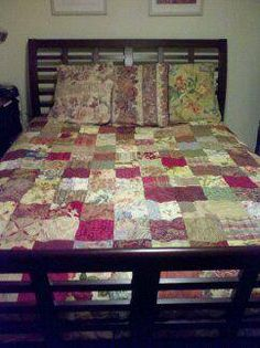 I love this patchwork quilt made from Decorative Fabrics.  I have one on my bed! You can find it on www.Etsy.com