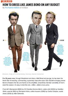"""How to Dress Like James Bond on Any Budget"" | Esquire | Sept. 2012"