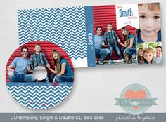 Banner digital CD and CD cases templates (single and double), photographer template, cd template, printable CD design $7