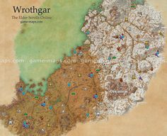 Wrothgar zone map. Orsinium City. It is the homeland of the Orcs. Added with the Orsinium DLC and is accessible to all characters of all levels.