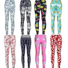Womens Stylish Hip Design Trendy Print Leggings