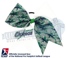 Proudly wear your Dallas Charge - Official Rhinestone Logo Bow and show your support for your favorite National Pro Fastpitch Softball Team!