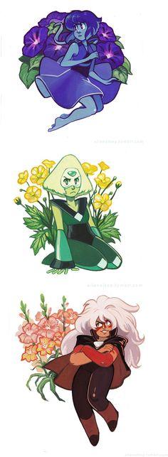 flores y gemas Más