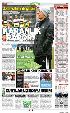 Beşiktaş Manşetleri(24/02/2015)