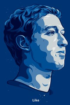Poster & Portraits 2012 by Vincent Rhafael Aseo, via Behance - These illustrated Posters and Portraits are interesting to look at, using the colour of what they are representing, such as Facebook being a really dark blue just helps clarify what it's for, with the simple text font at the bottom saying 'Like' symbolising the action button you can do on Facebook. I am really inspired by something like this and would give it a go, using illustrator and illustrations.