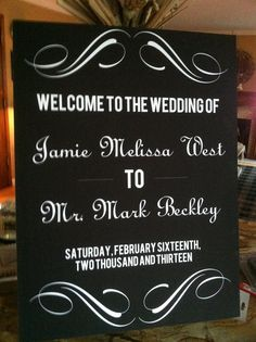 Wedding Reception Welcome Sign by WeddingsByJamie on Etsy