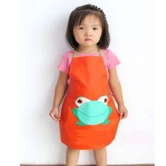 Amazon.com : Children's Waterproof Artists Aprons Kitchen, Classroom, Community Event, Crafts Art for Cooking Eating Painting Activity (orange) : Baby
