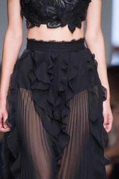 Sheer skirt with pleats & frills; fashion details // Ermanno Scervino Spring 2016 | @andwhatelse