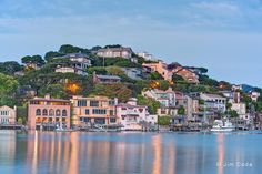 A view of Corinthian Island at twilight. Corinthian Island is bisected by the township lines of Tiburon and Belvedere, California. Tiburon California, San Francisco City, Marin County, Waterfront Property, Small Island, Corinthian, California Travel, Bay Area, Trip Planning