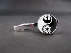 Star Wars Logo Tie Clip Mens Wedding Accessories Gift by Juanitazh