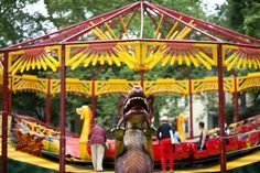 Ooh la la! Check out this awesome vintage French #carnival at Governor's Island in #NYC.