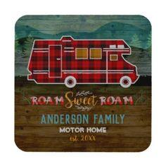 Motorhome Personalised Drinks Coaster Camper Van Novelty Birthday Christmas Gift