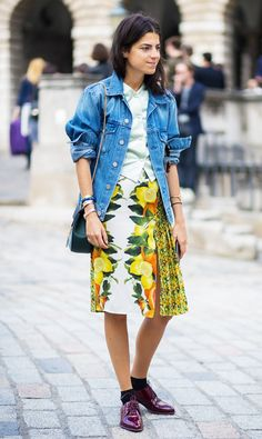 How to Make Your Denim Jacket Look Cool via @WhoWhatWear