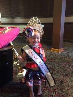 National Pageant Patriotic Casual Wear Winner!  Facebook: Paulina's Pageant Designs