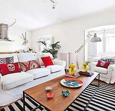 Un luminoso apartamento en Madrid de 60m... Aprovecha cada rincón de la casa y amplía espacios.