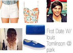 """First Date W/ louis Tomlinson @ park"" by queenbwit ❤ liked on Polyvore"