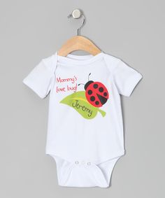 Initial Request White 'Mommy's Love Bug!' Personalized Bodysuit - Infant by Initial Request #zulily #zulilyfinds