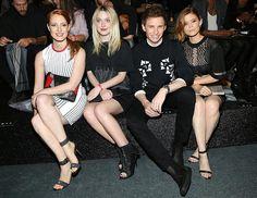 Las tres actrices formaron parte del concurrido 'front row' que protagonizó el desfile neoyorquino en el que se presentaron las creaciones de la colección capsula 'Alexander Wang x H&M'