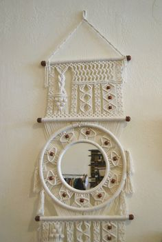 macrame wall hanging by mascotvintage