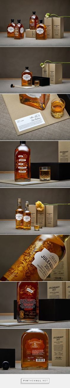 Gilde Juleaquavit 2017 packaging design by OlssønBarbieri - https://www.packagingoftheworld.com/2018/02/gilde-juleaquavit-2017.html
