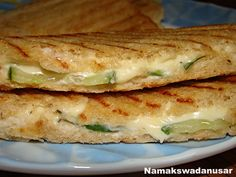Cucumber cheese mayo sandwich