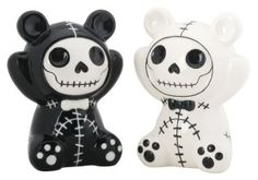 This gorgeous Pandie Panda Bear Furry Bones Salt N Pepper Shaker has the finest details and highest quality you will find anywhere. The Pandie Panda Bear Furry Bones Salt N Pepper Shaker is truly remarkable. Product is crafted with: Ceramic. Inked Shop, Salt And Pepper Set, Creepy Halloween, Halloween Ideas, Happy Halloween, Halloween Party, Kitchen Witch, Salt Pepper Shakers, Bones