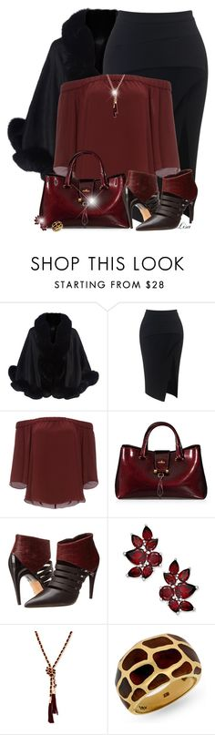 """""""Fab Booties :)"""" by lmm2nd ❤ liked on Polyvore featuring Harrods, Maticevski, DailyLook, Hogan, Rebecca Minkoff and GUESS"""