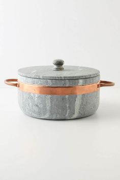 stone + copper stock pot.