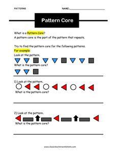 1000 images about shapes and patterns on pinterest math worksheets worksheets and keys. Black Bedroom Furniture Sets. Home Design Ideas