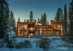 "Located near Lake Tahoe, California, the Martis Camp House by Swaback Partners impresses due to its elegant cottage-like architecture: ""A home for the high Sierra's that does not fall in line with the Houses Architecture, Architecture Design, Bedroom Design 2017, Bedroom Designs, Houses In America, Mega Mansions, Contemporary Style Homes, Contemporary Interior, Tadao Ando"