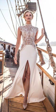 27 Disney Wedding Dresses For Fairy Tale Inspiration ❤ mullan disney wedding dresses cap sleeve high neck heavily embellished bodice lian rokman ❤ See more: http://www.weddingforward.com/disney-wedding-dresses/ #wedding #bride
