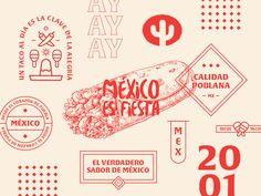 Rincon Azteca - Branding designed by Gerardo Rivera. Graphic Design Layouts, Graphic Design Posters, Graphic Design Typography, Graphic Design Illustration, Graphic Design Inspiration, Layout Design, Mexican Graphic Design, Branding Logo Design, Bakery Branding