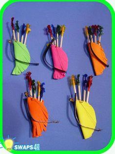Archery Set, Girl Scout Swaps--Possible neckerchief slides for Boy Scouts. Girl Scout Swap, Girl Scout Leader, Girl Scout Troop, Brownie Girl Scouts, Girl Scout Cookies, Les Scouts, Daisy Girl Scouts, Archery Set, Archery Targets