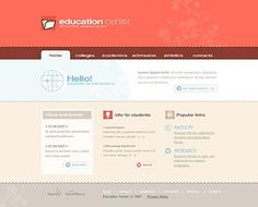 Education Center Flash Templates by Lovely Flash Templates, Education Center, Blog