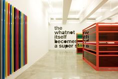 "Liam Gillick, ""The State Itself Becomes A Super Whatnot"" installation view, Casey Kaplan Gallery, 2008"