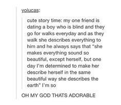 Cute story.
